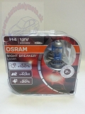 H4 OSRAM Night Breaker Laser +130% BOX 2ks 64193NBLBOX